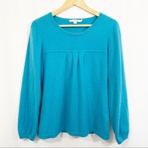 Boden Blue Cashmere Pullover Sweater Top